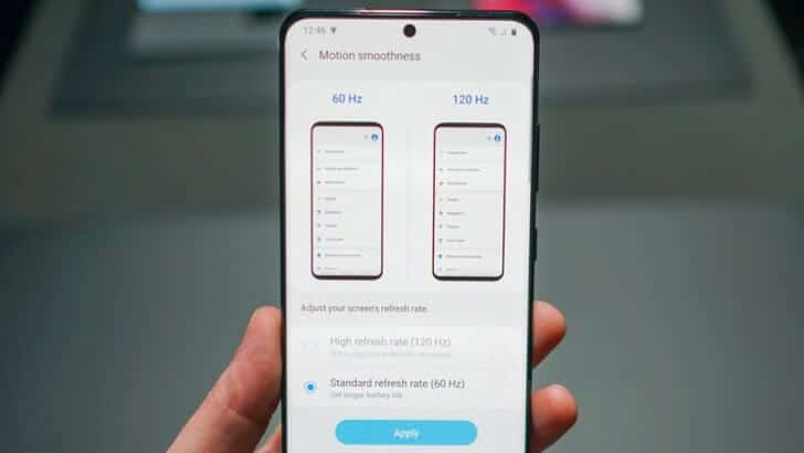 Rata de actualizare ecran smartphone